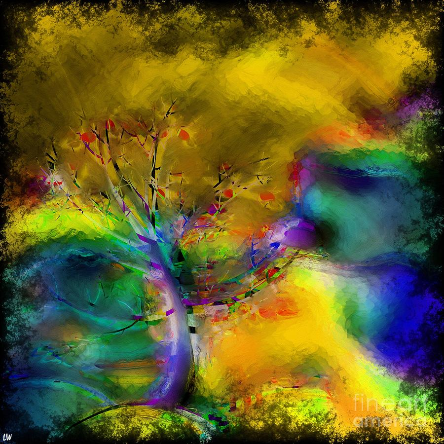 Tree Abstract Mixed Media - Tree Abstract - Bold Is Beautiful by Liane Wright