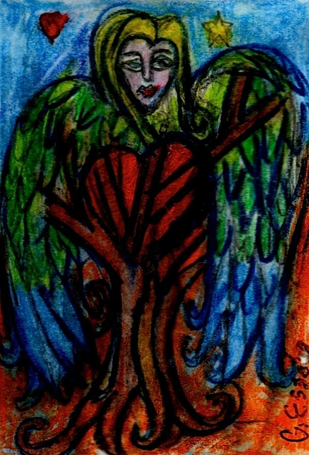 Tree Painting - Tree Angel by Genevieve Esson