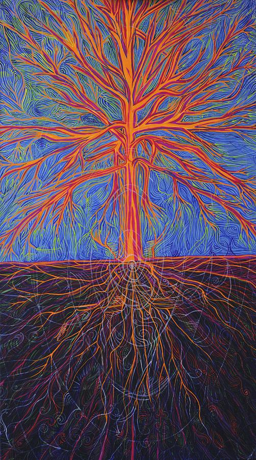 Cosmism Painting - Tree As It Is by Lola Lonli