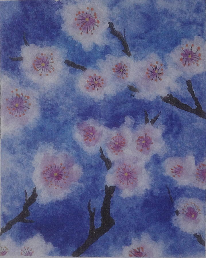 Blue Painting - Tree Blossom by Catherine Arcolio