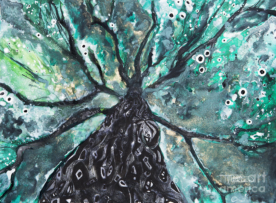 Abstract Painting - Tree Branches Above by Tara Thelen