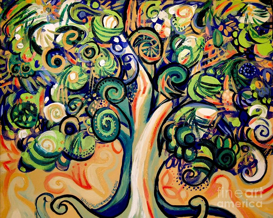 Tree Painting - Tree Candy 2 by Genevieve Esson