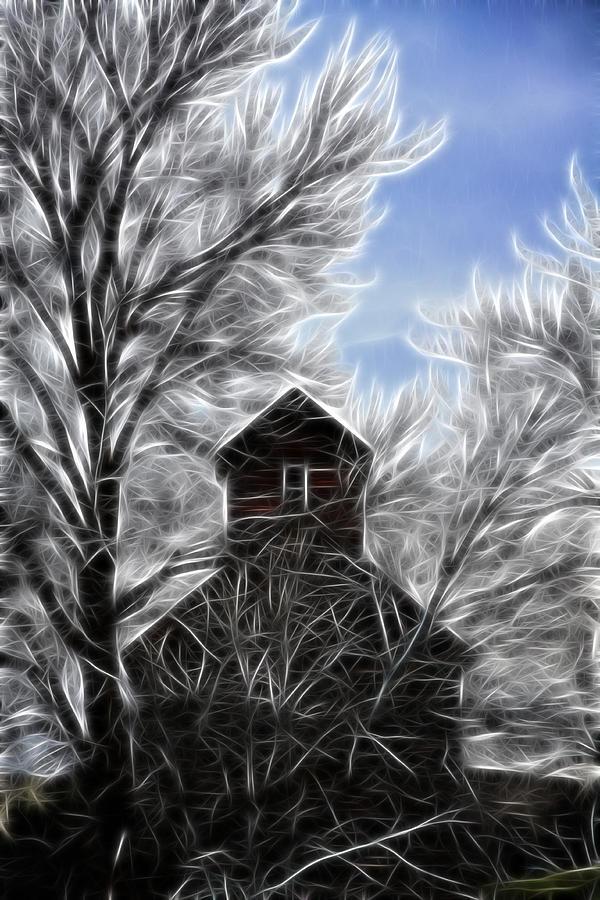Cabin Photograph - Tree House by Steve McKinzie