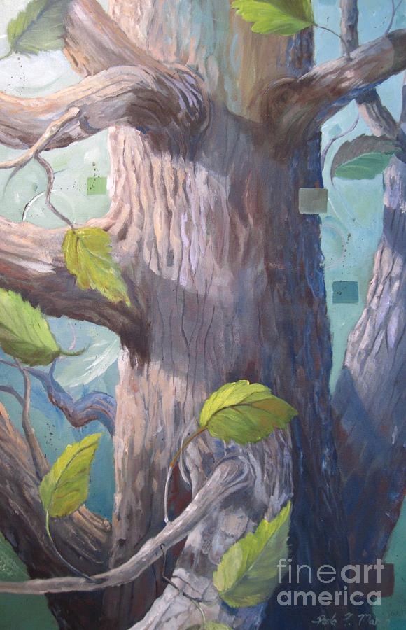Trees Painting - Tree Hugger by Paula Marsh
