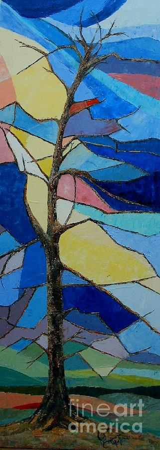 Tree Intensity - Sold Painting by Judith Espinoza