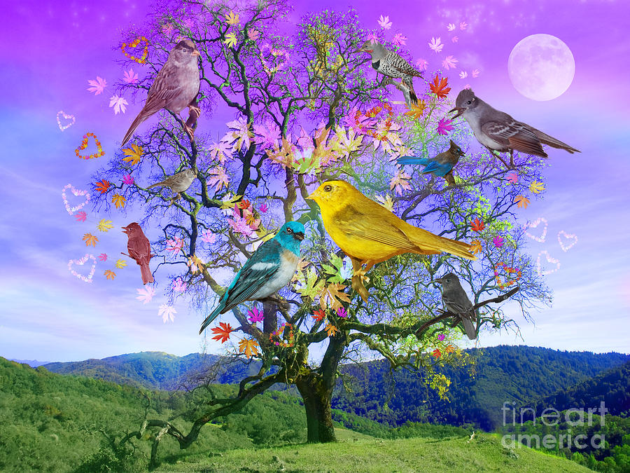 Fantasy Digital Art - Tree Of Happiness by Alixandra Mullins