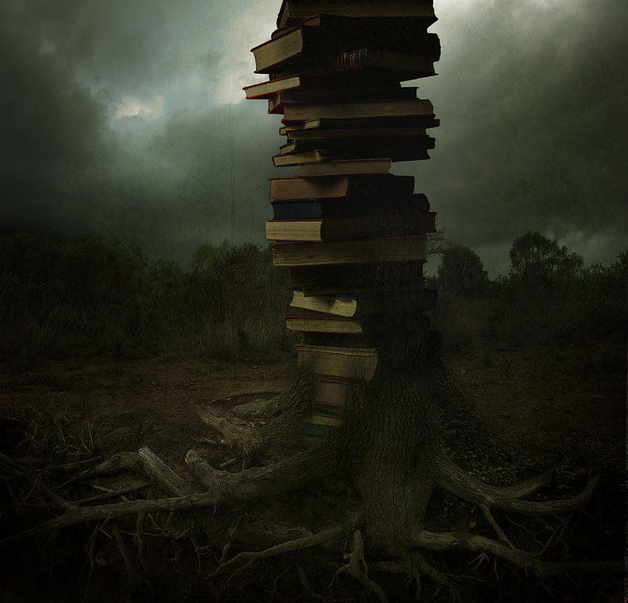 Books Pyrography - Tree Of Knowledge by Fern Evans