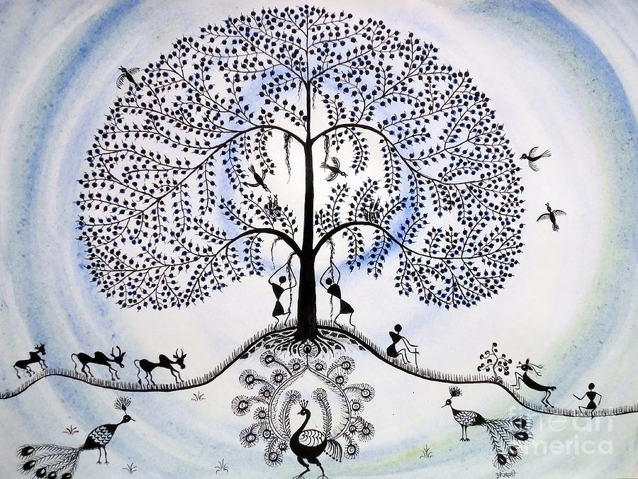 Tree Of Life Painting By Anjali Vaidya