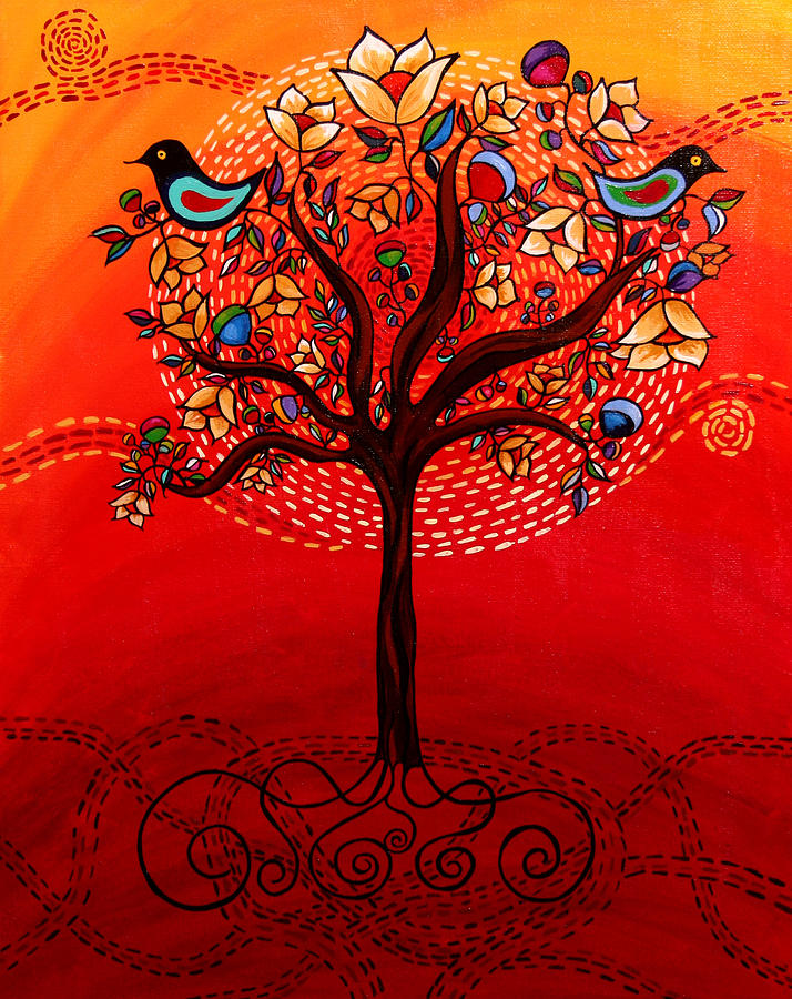 Landscape Painting - Tree Of Life by Catherine Barry