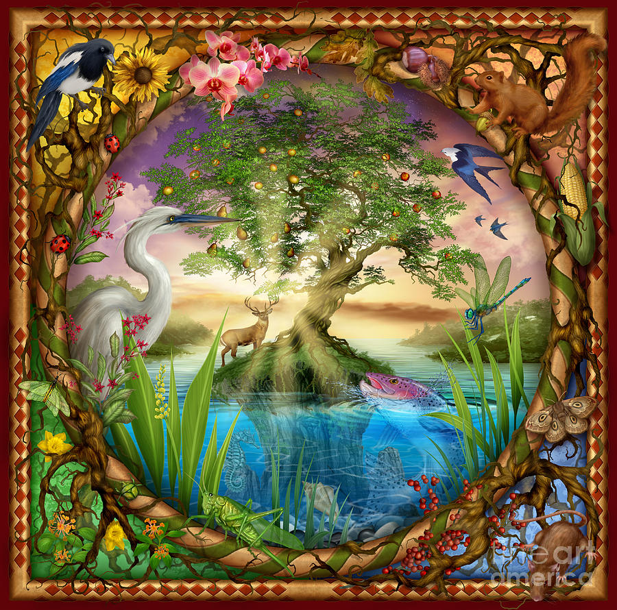 Tree Of Life Digital Art By Mgl Meiklejohn Graphics Licensing