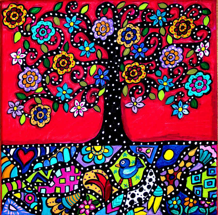 Tree of life eternal roots painting by tori radford greeting card painting tree of life eternal roots by tori radford kristyandbryce Gallery