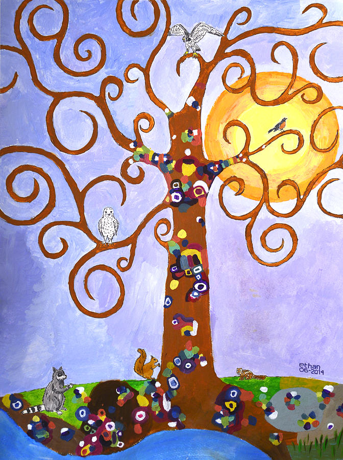 Gustav Klimt Tree Of Life Painting by Ethan Altshuler