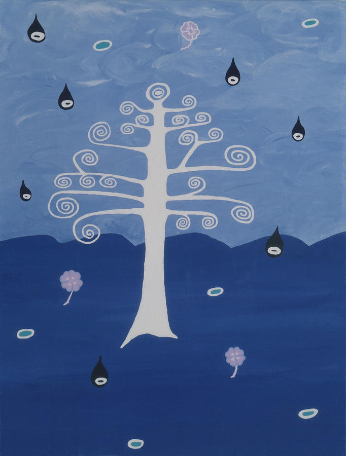 Tree Of Life - Field Of Souls Painting by Elle Nicolai