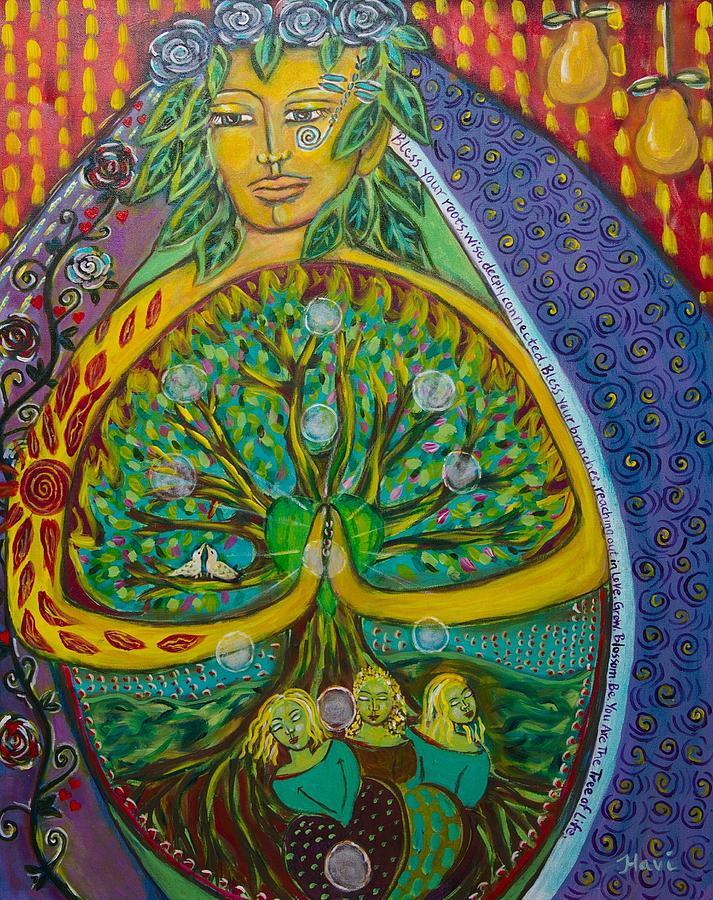 Tree Painting - Tree Of Life by Havi Mandell
