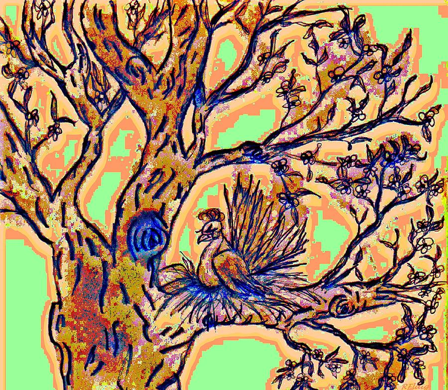 Tree Of Life Drawing - Tree Of Life by Rebecca Flaig