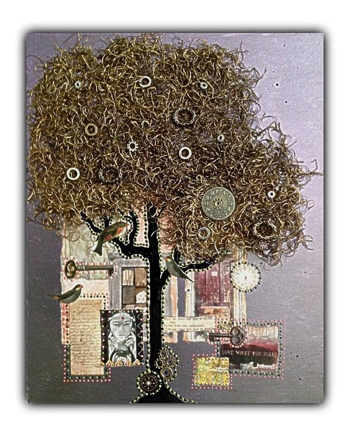 Mixed Media - Tree Of Life by Schroder Konate