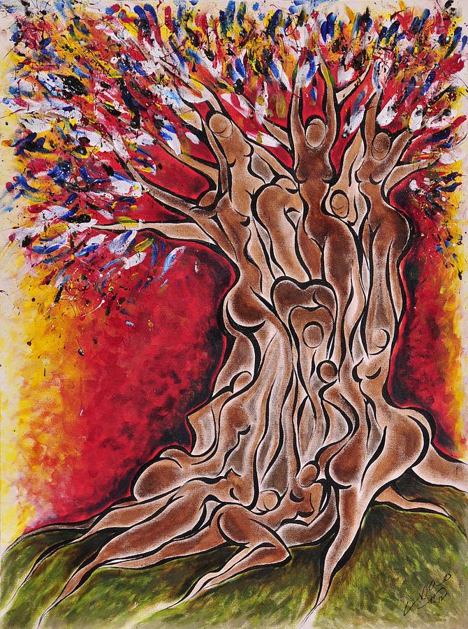 Tree Painting - Tree Of Life by Sherrell Cisco