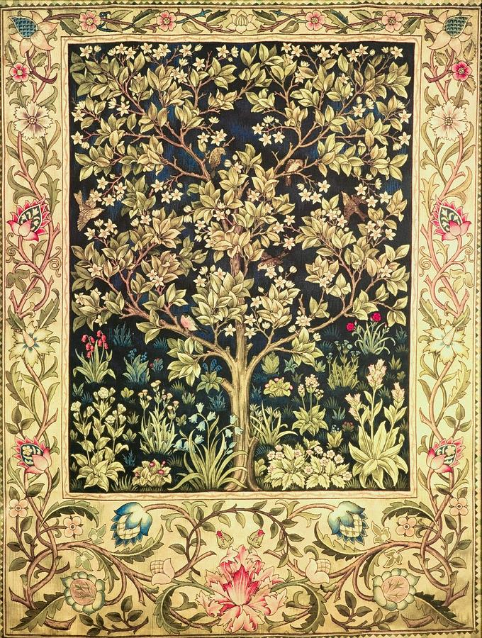 Tree Of Life Painting By William Morris