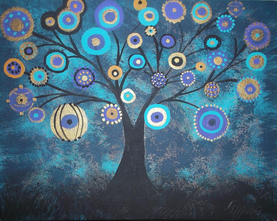 Landscape Painting - Tree Of Lights by Tina Murray