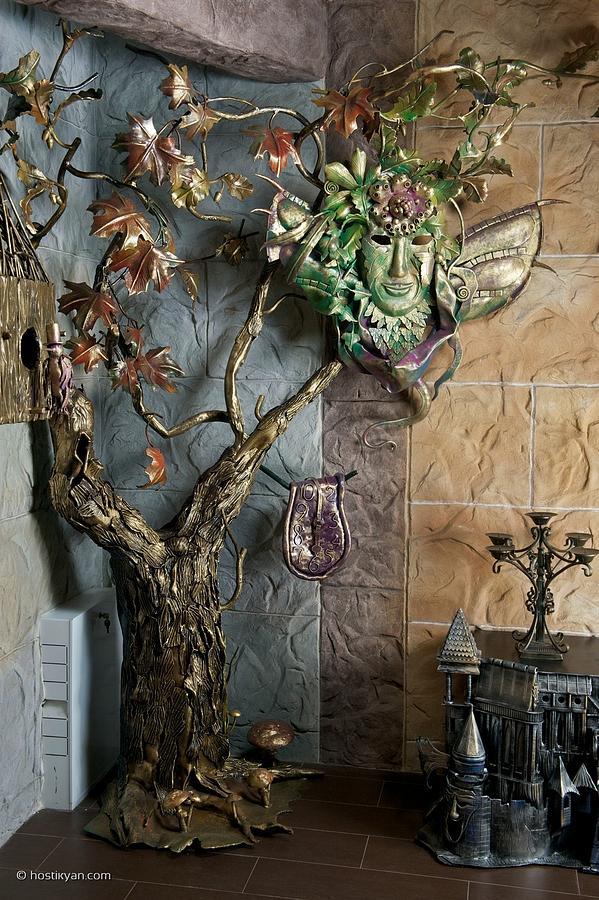 Iron Sculpture - Tree Of Tears by Arman Hostikyan