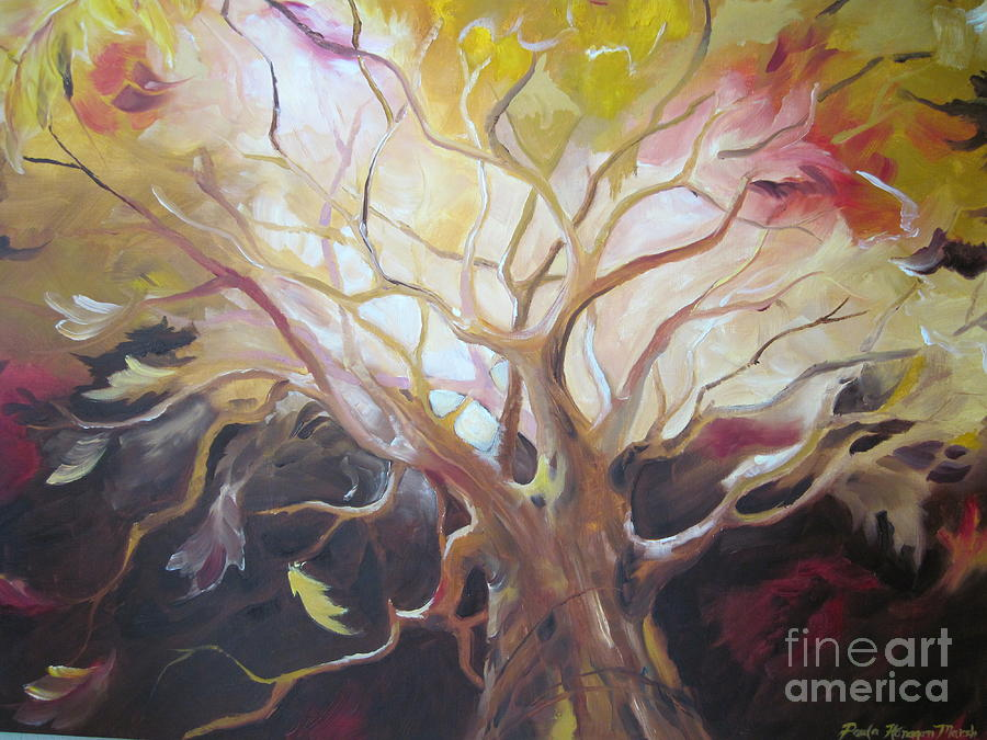 Surreal Tree Painting - Tree Of Thought by Paula Marsh