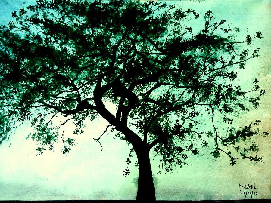 The Proud Tree Painting - Tree Proud Tree by Nitesh Kumar