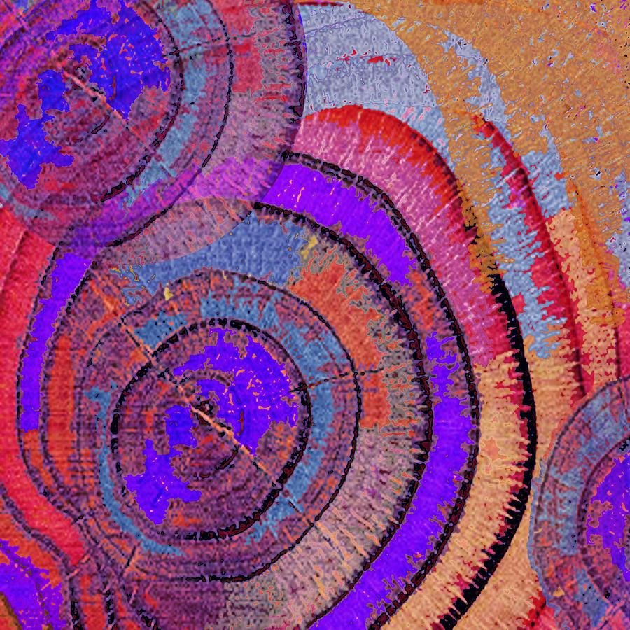 Abstract Painting - Tree Ring Abstract 2 by Tony Rubino