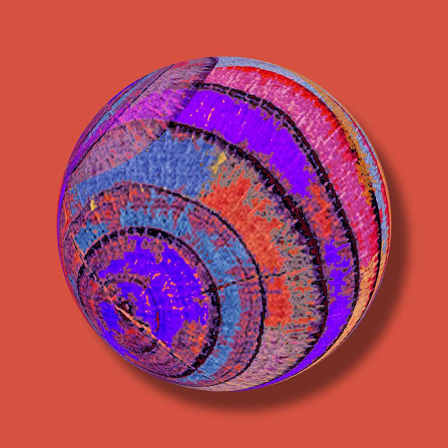 Abstract Painting - Tree Ring Abstract Orb by Tony Rubino