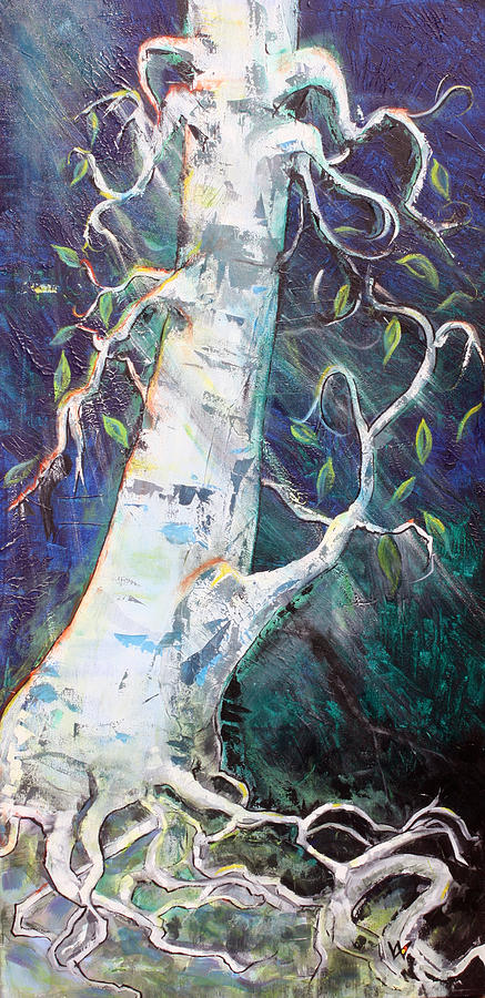 Tree Painting - Tree by Valerie Wolf