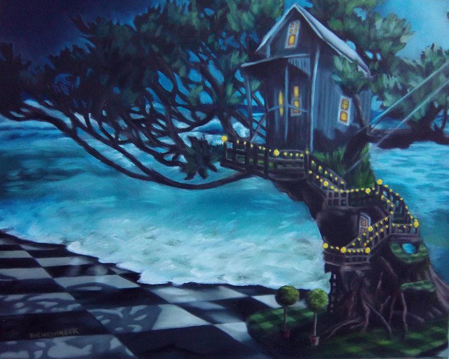 Tree Painting - Treehouse by Lori Keilwitz