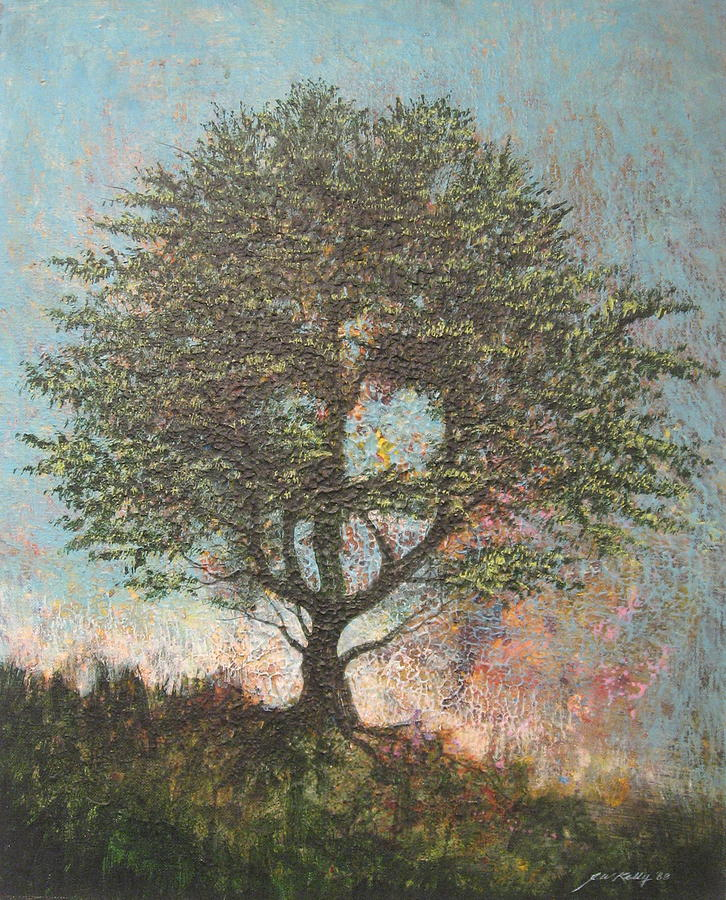 Abstract Landscape Painting - Treeman by J W Kelly