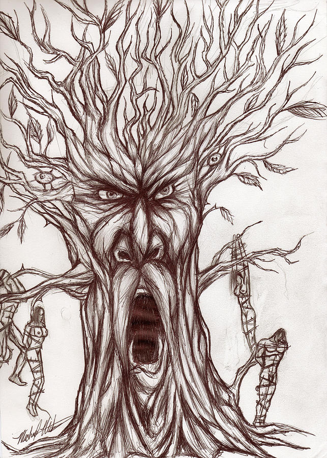 Tree Drawing - Treeman by Michael Mestas