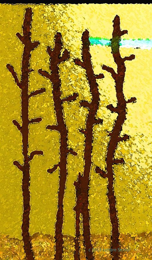 Abstract Digital Art - Trees - A Tribute To Vivian Anderson by Lenore Senior