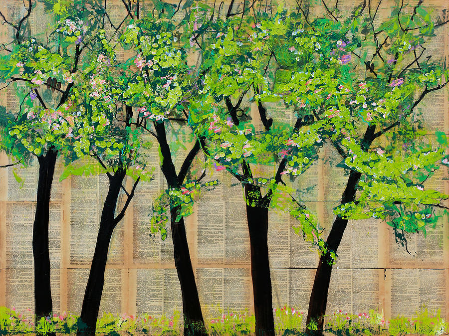 Trees In A Row Painting