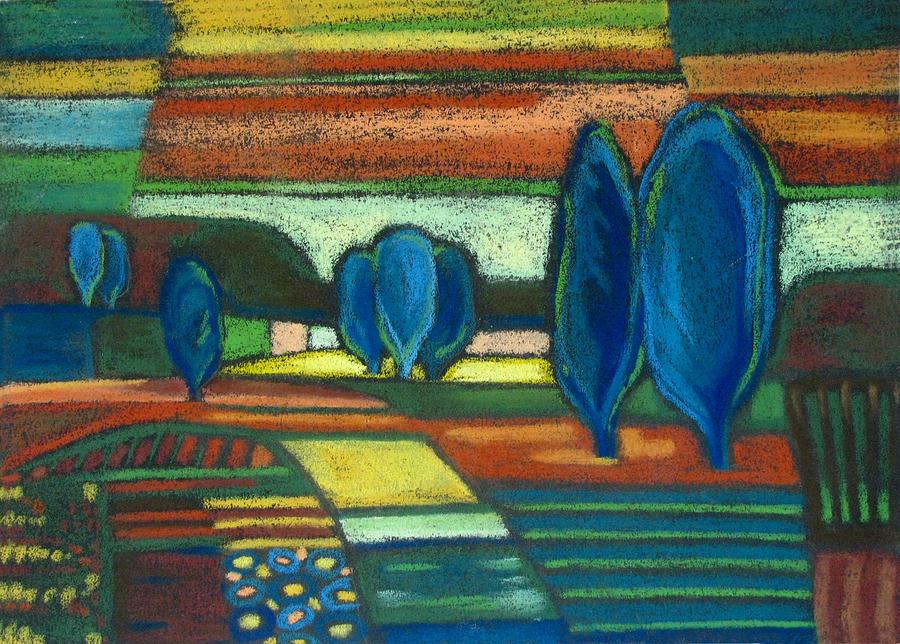 Trees Painting - Trees Of Blue by Gergana Valkova