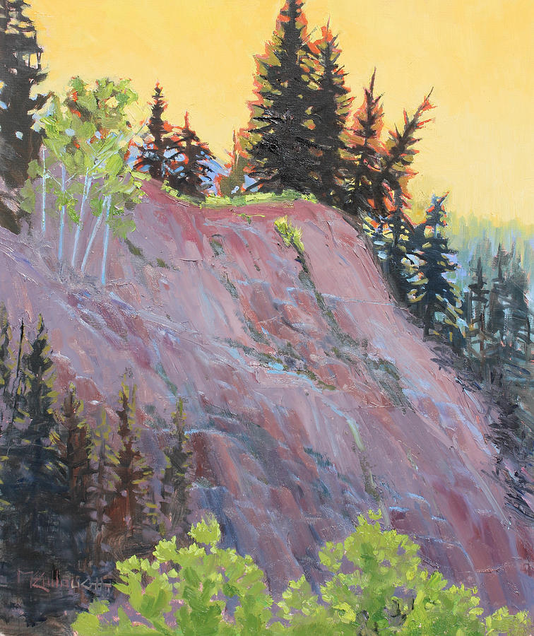 Pine Trees Painting - Trees On Top by Susan McCullough