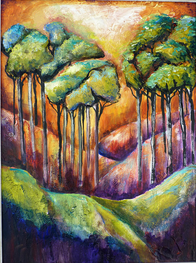 Abstract Painting - Trees by P Maure Bausch
