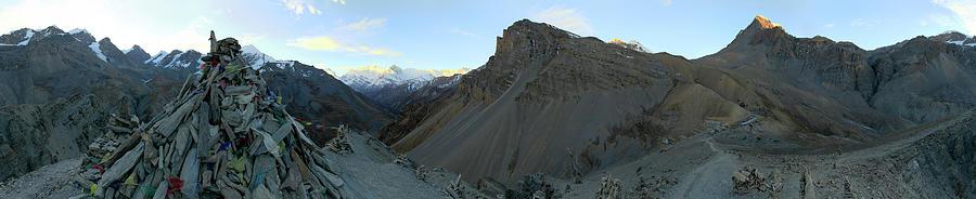 Adventure Photograph - Trekkers Ascending Thorung La Pass by Johnathan Ampersand Esper