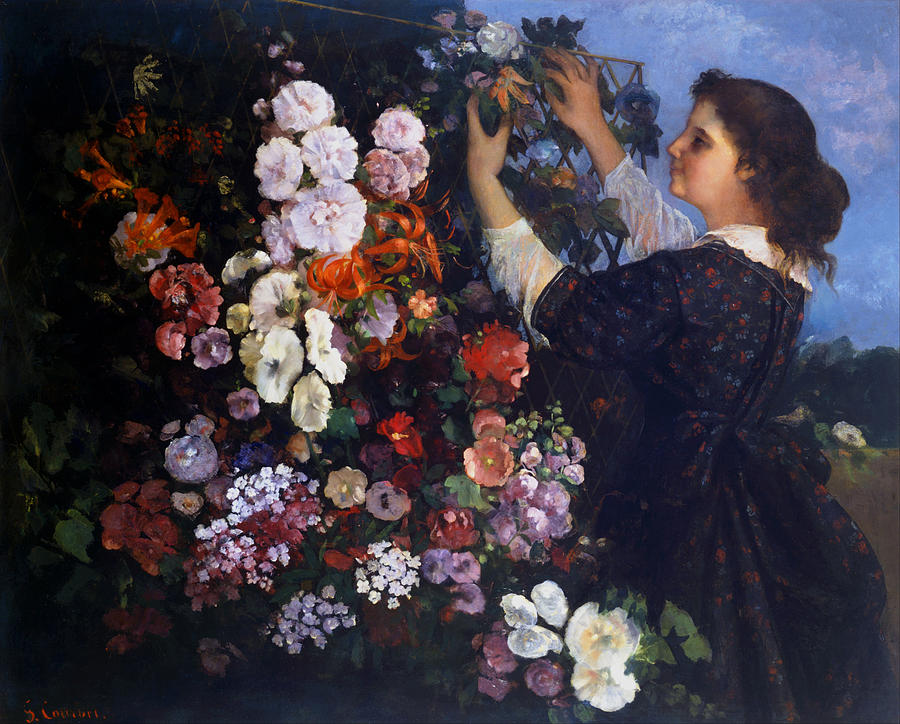 Gustave Courbet Painting - Trellis by Gustave Courbet