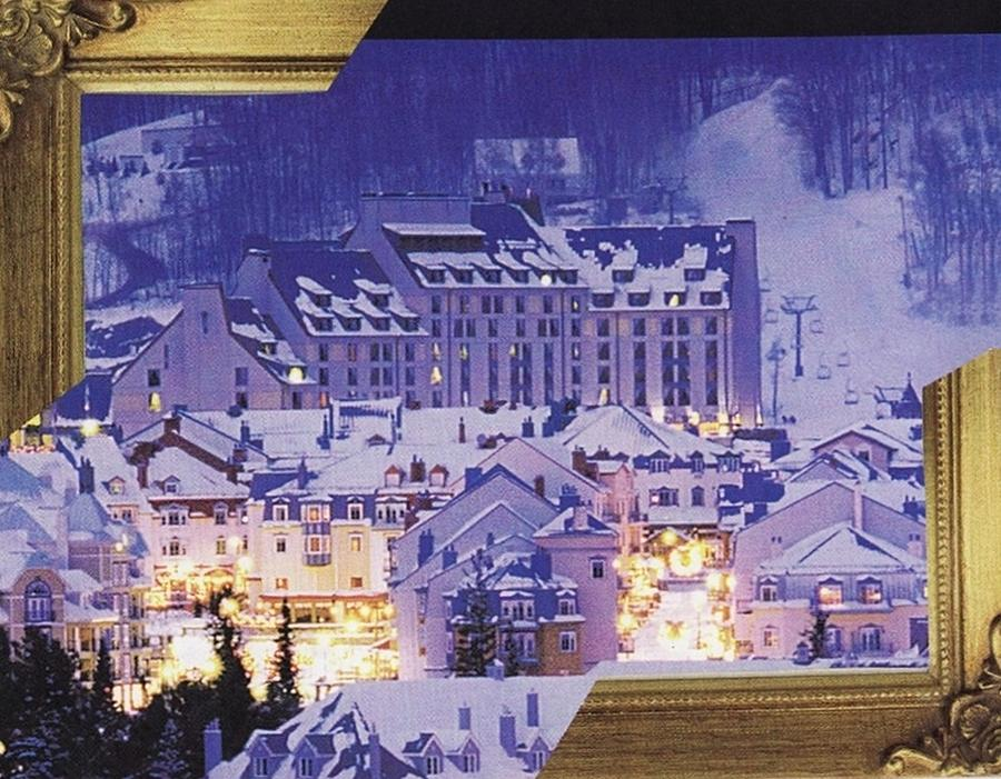 Christmas Mixed Media - Tremblant by Matthew Hoffman