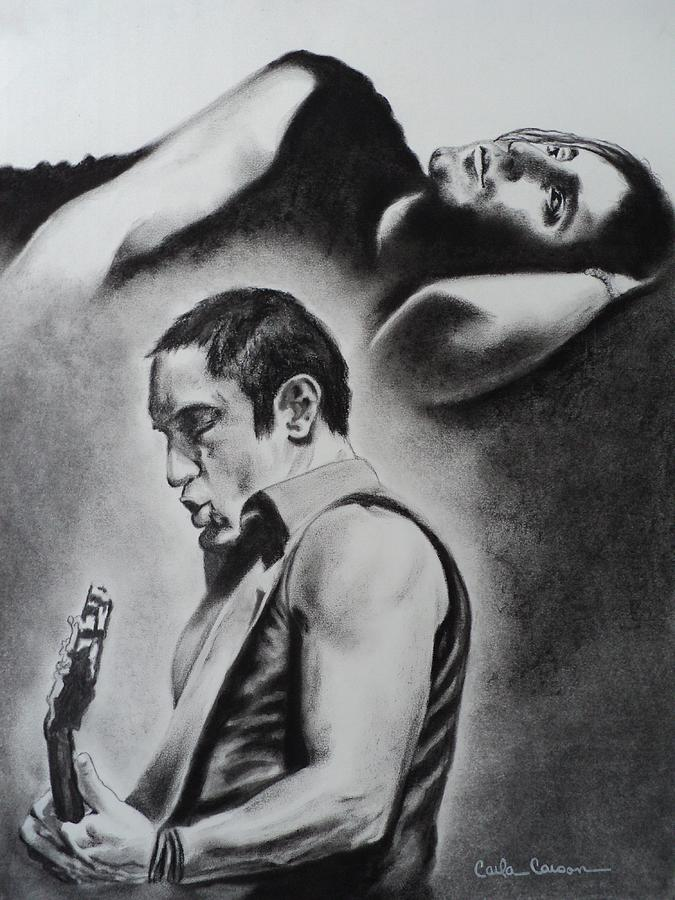 Trent Reznor Drawing - Trent Reznor Of Nine Inch Nails Burn by Carla Carson