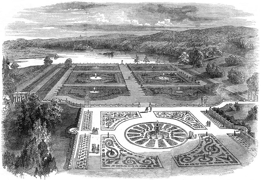 England Drawing - Trentham Hall, Staffordshire - by  Illustrated London News Ltd/Mar
