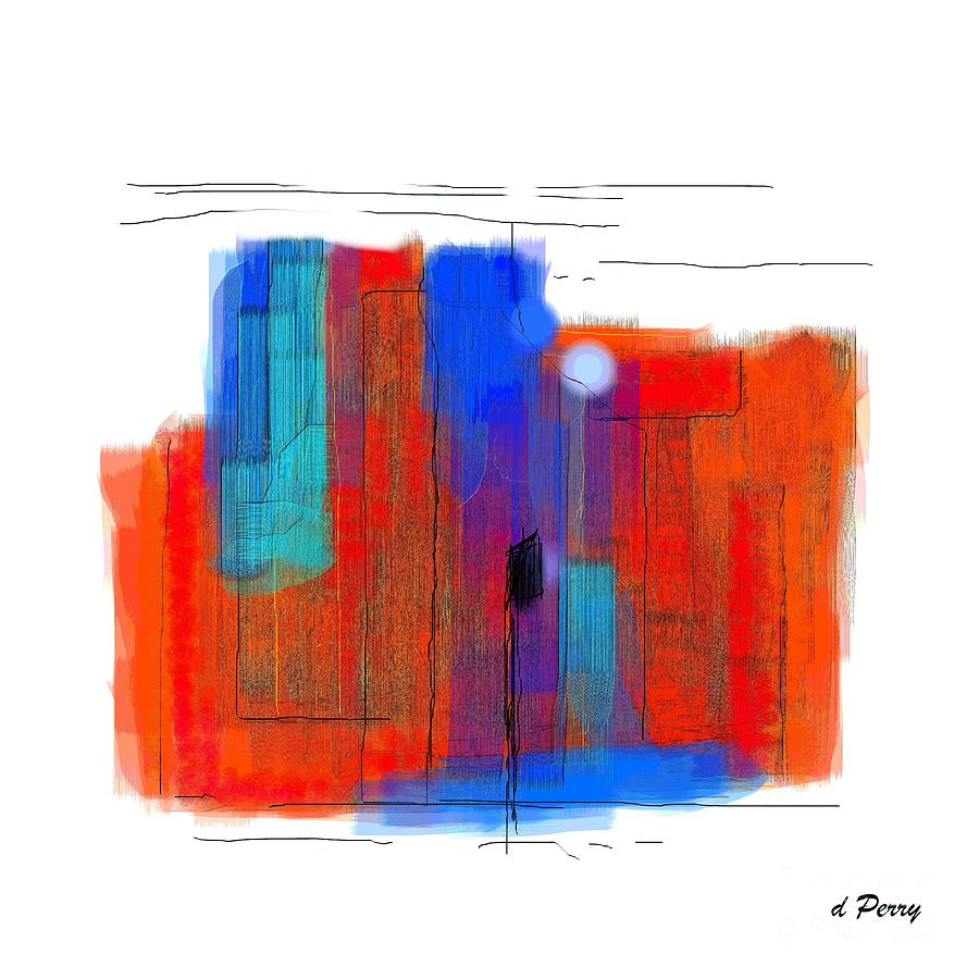 Greeting Cards Digital Art - Trepidation by D Perry