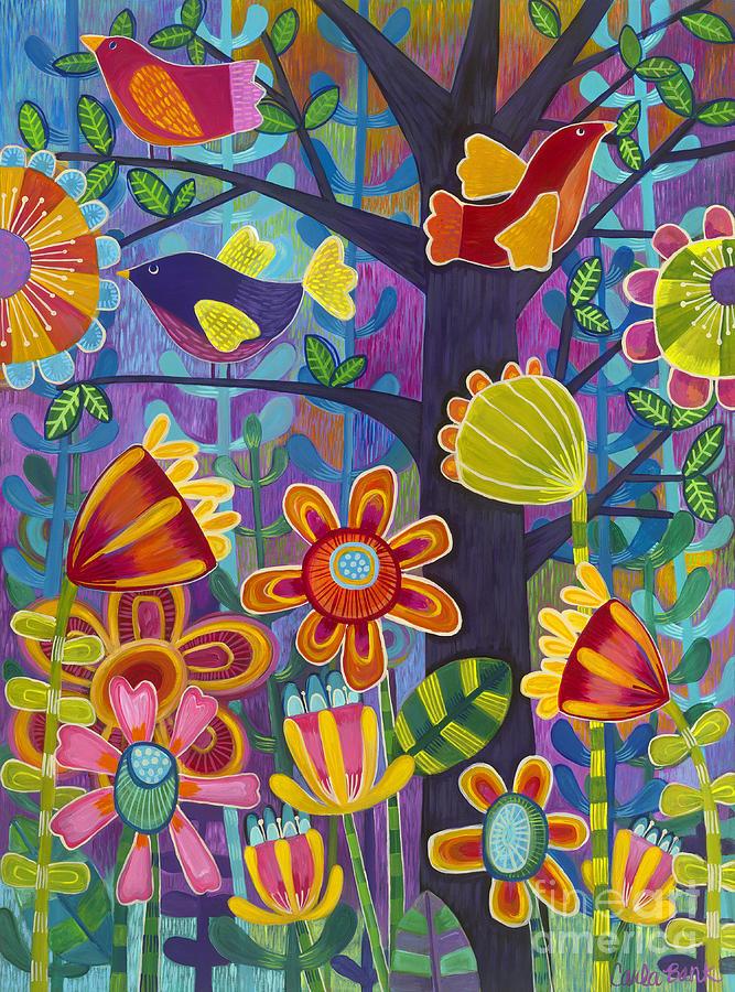Botanical Painting - Tres Amigos by Carla Bank