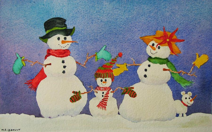 Winter Painting - Tres Chic by Mary Ellen Mueller Legault