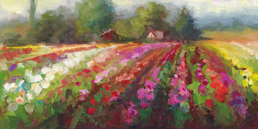 Trespassing Dahlia field landscape by Talya Johnson