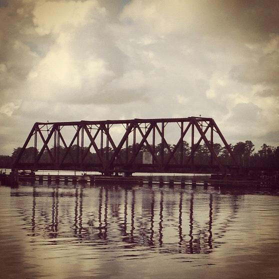Tressle Photograph - Trestle On The Pamlico River by Joan Meyland