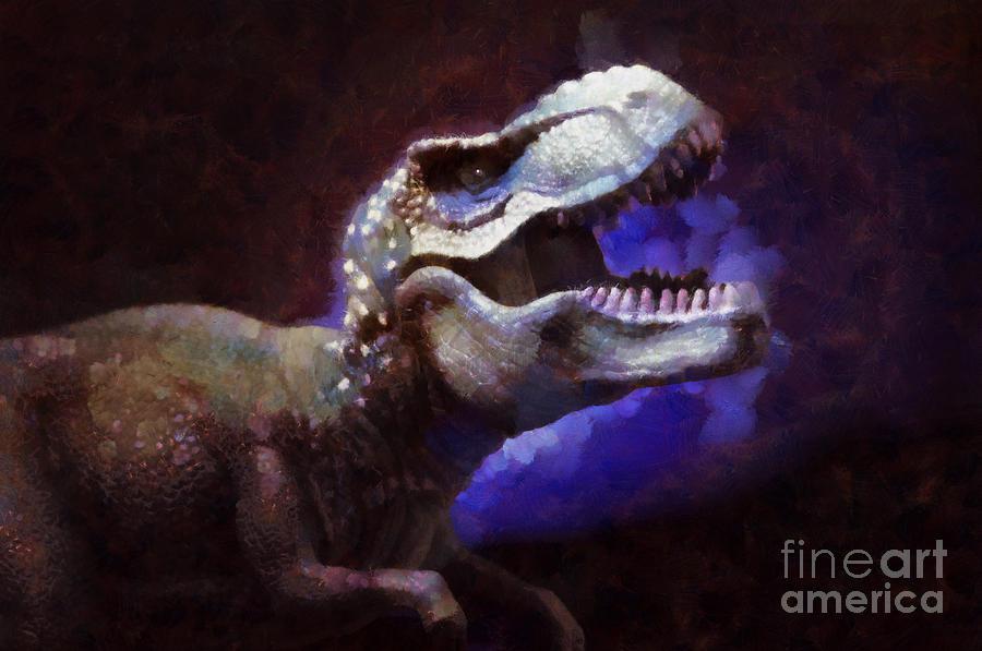 Trex Roar Painting