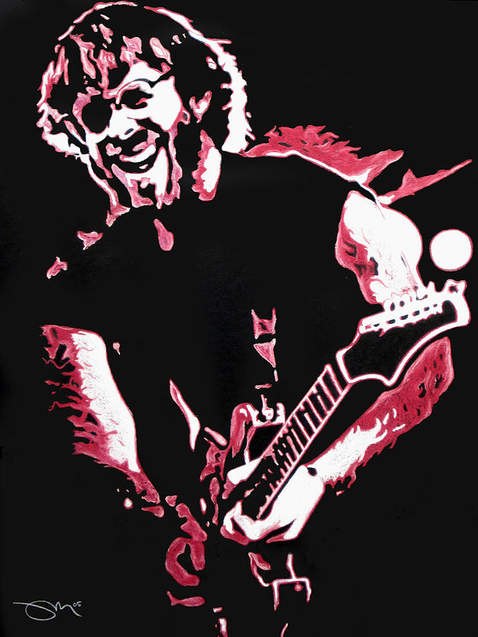 Phish Drawing - Trey Anastasio In Pink by Joshua Morton