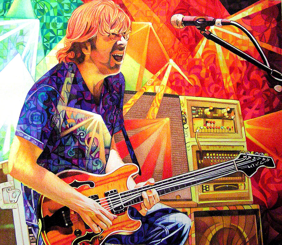 Trey Anastasio Drawing - Trey Anastasio Squared by Joshua Morton